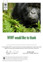 Adopt a Mountain Gorilla Certificate