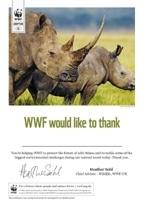 Adopt a Rhino Certificate
